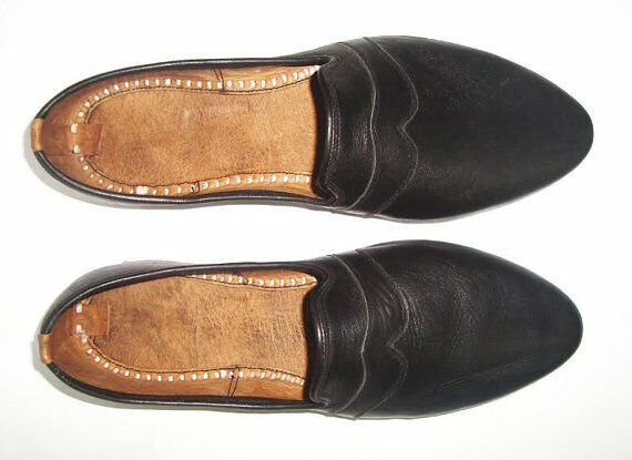 New Handmade Black Leather Shoes Men Leather Shoes Handmade New Vintage Dress Leather Shoes 9e3a39