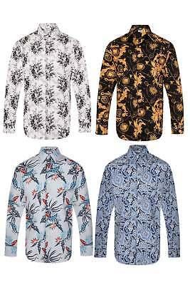 Paisley Floral Mens Vintage Regular Fit Casual Mod Shirt Indie S-4xl BerüHmt FüR Hochwertige Rohstoffe, Umfassende Spezifikationen Und GrößEn Sowie GroßE Auswahl An Designs Und Farben
