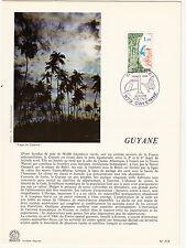 Grande carte (16x22cm) 1 er jour timbrée encart 1976 GUYANE CAYENNE