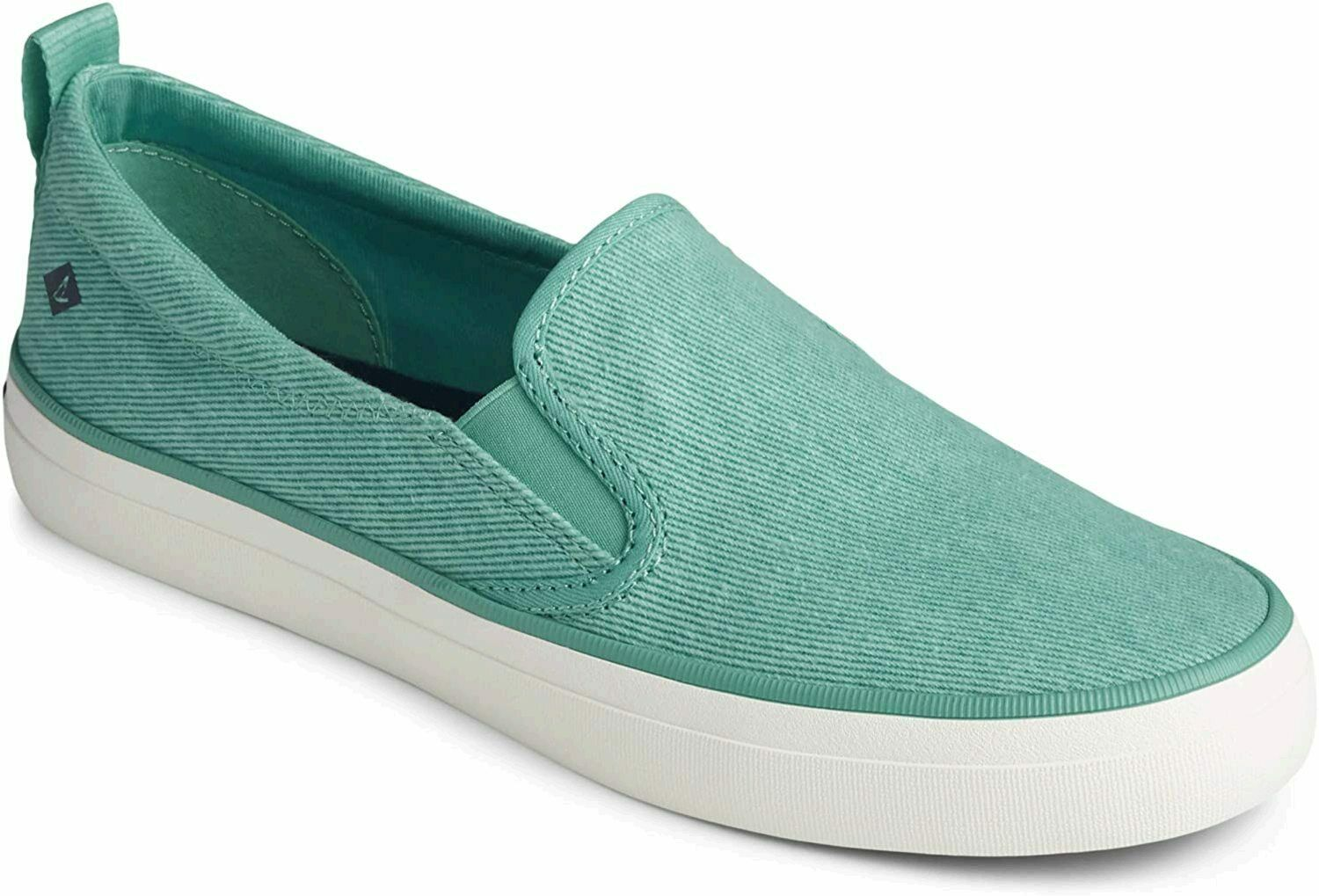 Sperry Women's Crest Twin Gore Washed Twill Sneaker, Bright Mint, Size 5.0 US /