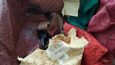 Exotic leather - Genuine ostrich leather remnants, assorted ostrich scraps