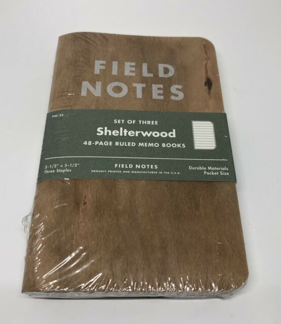 Field Notes Shelterwood FNC-22 Spring 2014 Limited Ed Notebooks Sealed 3-pack
