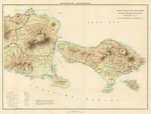 Details About 1932 Travellers Official Information Bureau Map Of Bali Indonesia