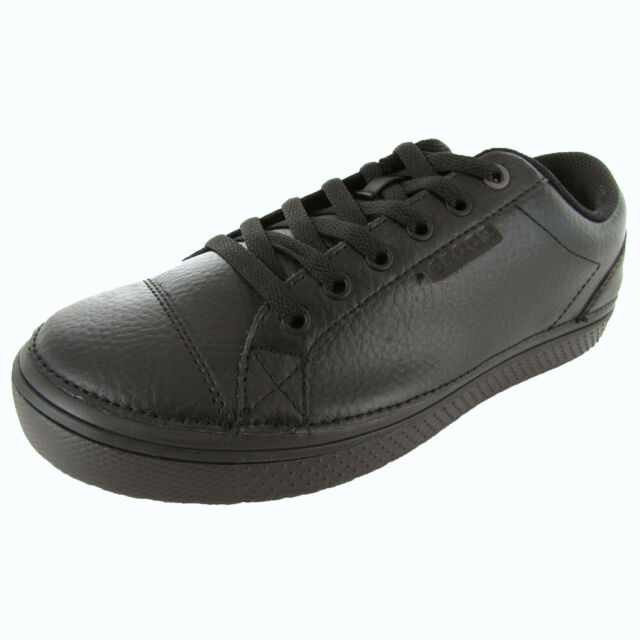 a62f3330969f Crocs 7237 Mens Work Hover Black Leather Casual Shoes SNEAKERS 9 ...