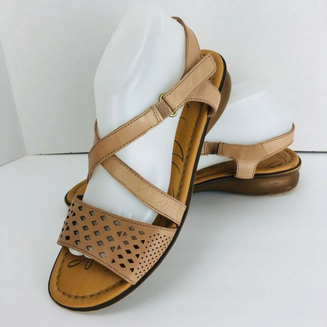 221cfe424e2e Frequently bought together. Naturalizer Janessa Gingersnap Beige Leather  Strappy Sandals Size 10 ...