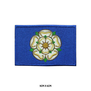 YORKSHIRE-County-Flag-Embroidered-Patch-Iron-on-Sew-On-Badge-For-Clothes-Etc