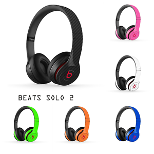 Beats by Dre SOLO 2 SOLO2 - Carbon 3D Skin Wrap Cover Grip Decal Sticker 2nd Gen