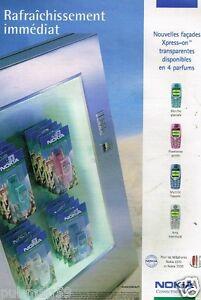 Publicité advertising 2002 Les téléphones Nokia 3310 et 3330