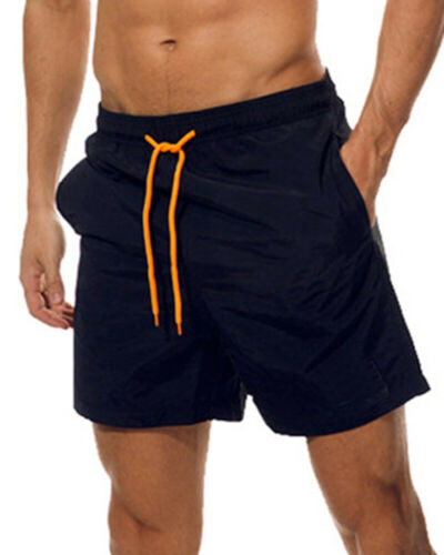 Men Quick Dry Swimwear Trunks Beach Surfboard Boxer Pants Sports Shorts Pockets