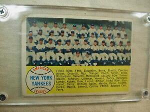 1958 Topps 246 New York Yankees Roster Checklist