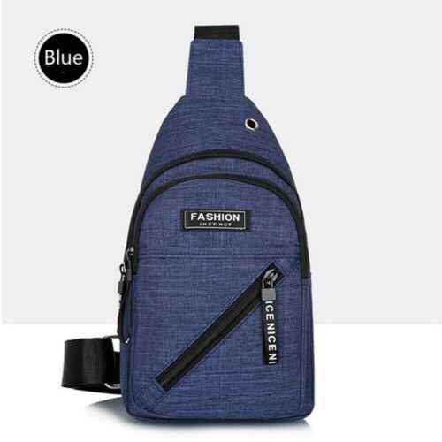 Men Anti-Theft Messenger Shoulder Bag Sling Chest Pack Sports Crossbody Handbag