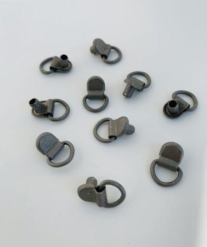 D-Ringhaken 10 Stück Silbergrau Schuhhaken