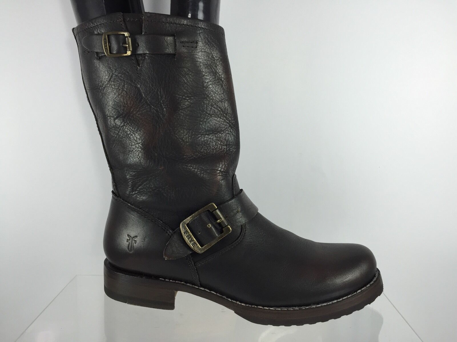Frye Womens Dark Brown Leather Boots 8 B