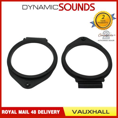 CT25VX09 165mm Front//Rear Speaker Adaptor Kit Ring For Vauxhall Adam 2013/>