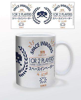 SPACE INVADERS 1978 11 OZ COFFEE MUG TEA CUP GAMER ARCADE VIDEO GAME OLDSCHOOL!!