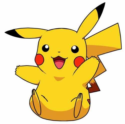 "Pokemon pikachu heat transfer iron on anime 2/""-5/"" inch"