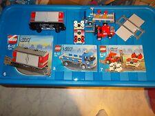 Lego® City Eisenbahn - RC - aus 7898 - Set 6,7 und 8 - Wagen, LKW, Stapler m. BA