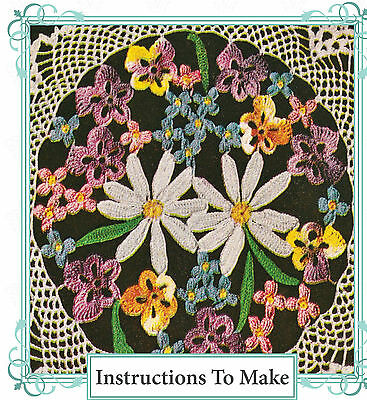 50 pretty Vintage flowers crochet patterns ebooklet on cd-free UK postage