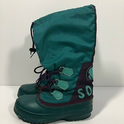 undefeated x coupon code classic style Sorel Women's 6 Freestyle Teal Blue Purple Lace Up Lined Tall ...