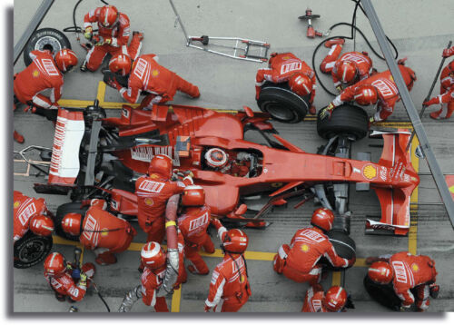 Ferrari F1 Pit Stop Large Framed CANVAS PRINT A0 A1 A2 A3 A4 Sizes