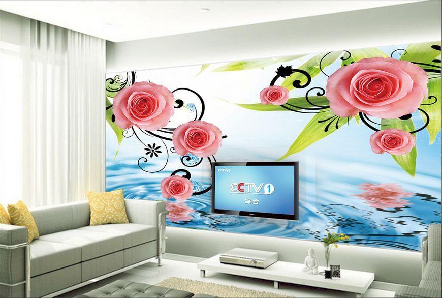 3D fiore moda Parete Murale Foto Carta da parati immagine sfondo muro stampa