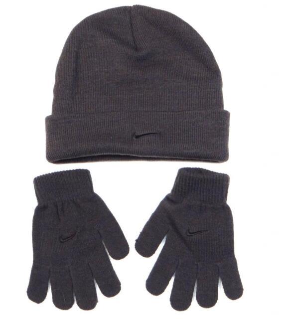 Youth 8 - 20 Nike Jordan Beanie Hat and Gloves Set Boys Black- Vivid Red  8 20 f1a8ead9660f