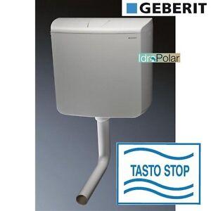 Nuova cassetta wc esterna a zaino geberit ap110 rio con tasto stop capacit 9 lt ebay - Wc con cassetta esterna ...