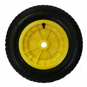 yellow wheelbarrow launching trolley wheel pneumatic 14 tyre 8 ebay. Black Bedroom Furniture Sets. Home Design Ideas