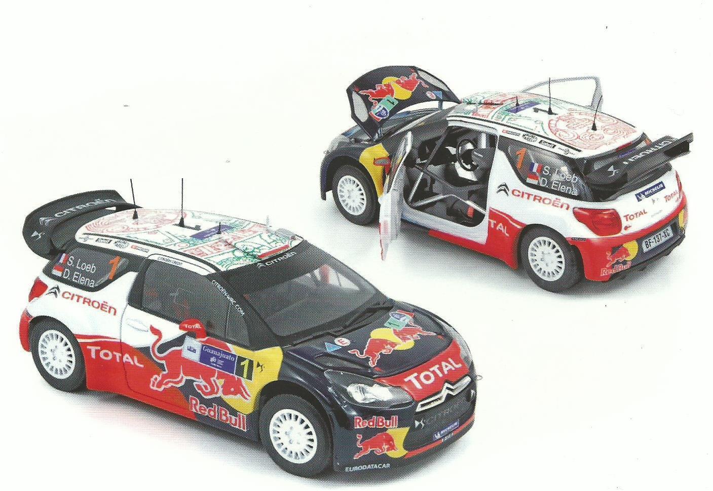 Norev 1 18 voiture Die cast  citroen ds3 WRC Rally Mexico 2011 Loeb Elena 181558  le réseau le plus bas