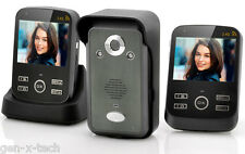 Wireless Video Door Phone Camera Intercom: 2x Monitors: Photo & Video Recording