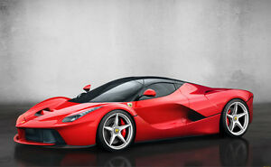 Image Is Loading SUPERCAR SPORT CAR Ferrari LaFerrari FERR10 CARS Giant