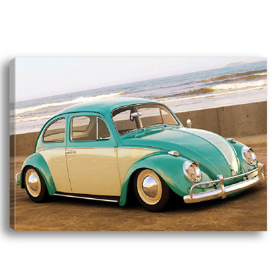 QUADRO TESSUTO STAMPATO VINTAGE - COCCINELLA COX BEETLE VINTAGE STAMPATO CHAVAN Volkswagen CC03 bd35da