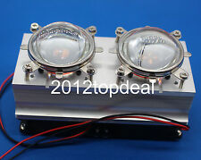 100w 200w High Power Led Heatsink Cooling With Fans 44mm Lens Reflector Bracket