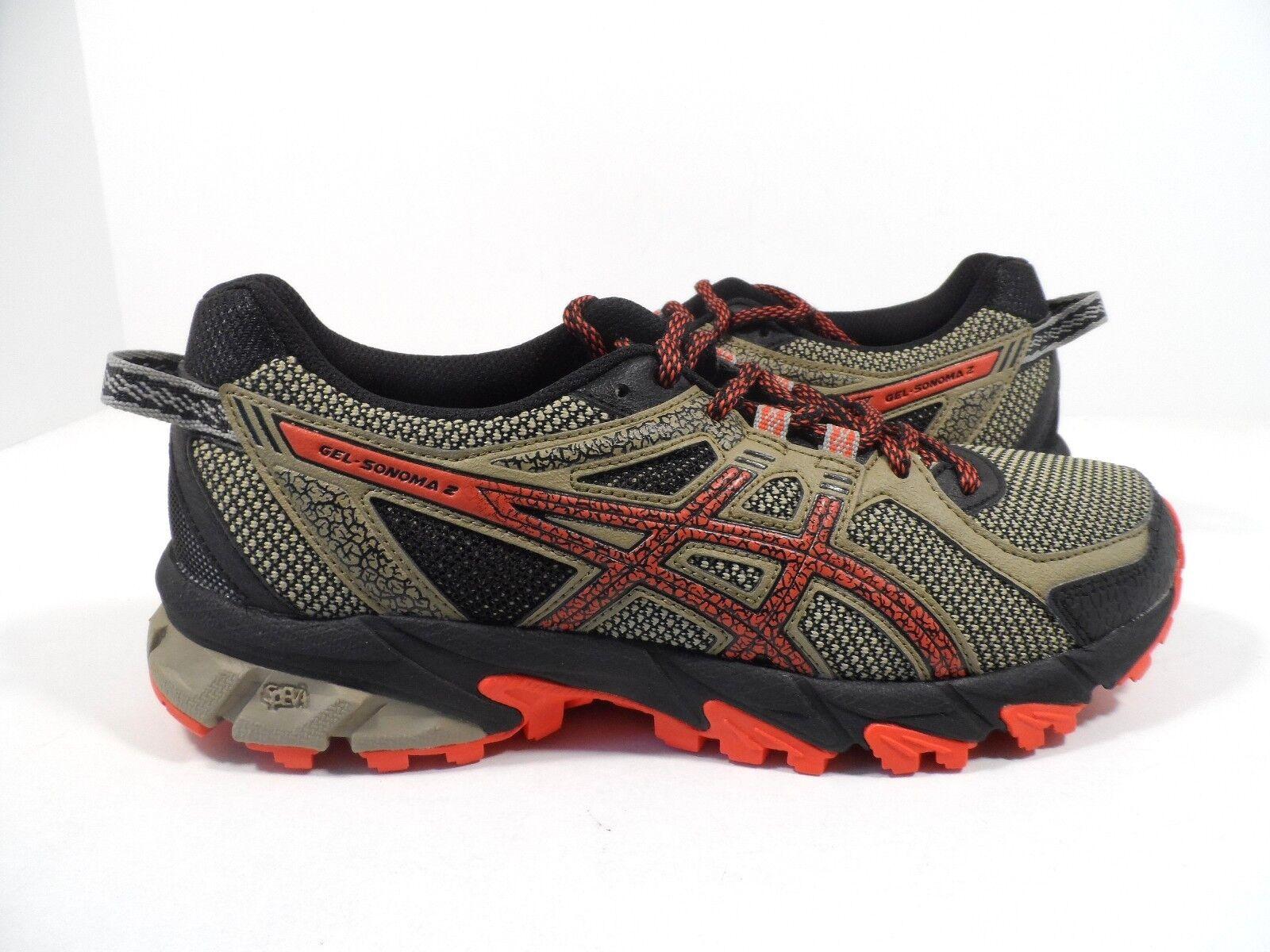 ASICS Men's Gel-Sonoma 2 Running Shoe Bark/Orange/Black Size 6.5