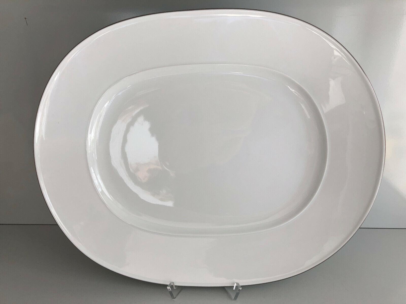 KPM Berlin URANIA Dekor 11 Platin PLATTE oval groß 30,5 x 37cm Unbenutzt Platter