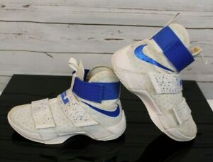 4c5ae0d4e1d0 Nike LBJ LeBron Soldier 10 Ten X Men s Sz 8 Blue White Sneakers ...