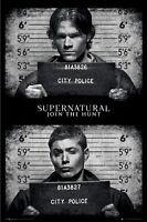 Supernatural Mugshots 24x36 Tv Poster Jensen Ackles Jared Padalecki Sam Dean