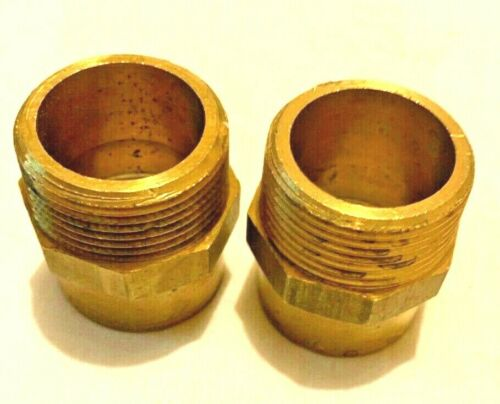 """2 x New Male Iron 35mm x 1 1//4/"""" Yorkshire fittings"""
