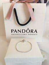 Genuine Pandora 17cm Essence Silver Ball Chain Bracelet #596002 RRP£49