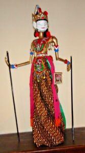 Marionette Cupumanik Lesmana Java Indonesie (je Pense ) 74 Cml Avec Socle Prix De Rue
