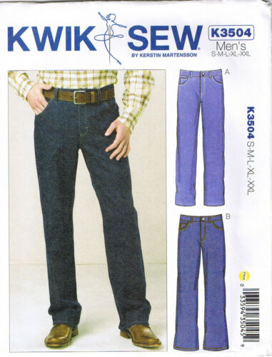 Mens Jeans Pants Straight Leg Boot Cut Sewing Pattern 28 30 32 34 36 38 40 42 46