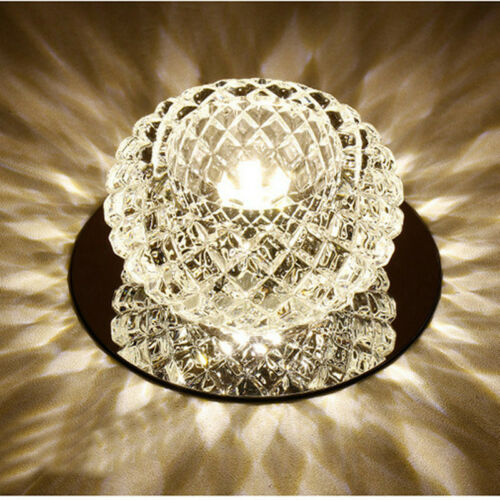Crystal Ceiling Light LED Pendant Lamp Flush Mount Chandelier Fixture Warm Withe