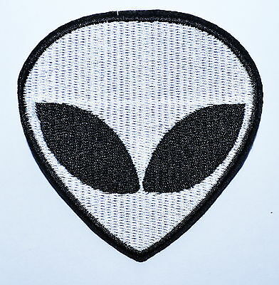 Hot Sale ! 3.4 inch ! Alien Head UFO Roswell AREA 51 hippie iron on patch