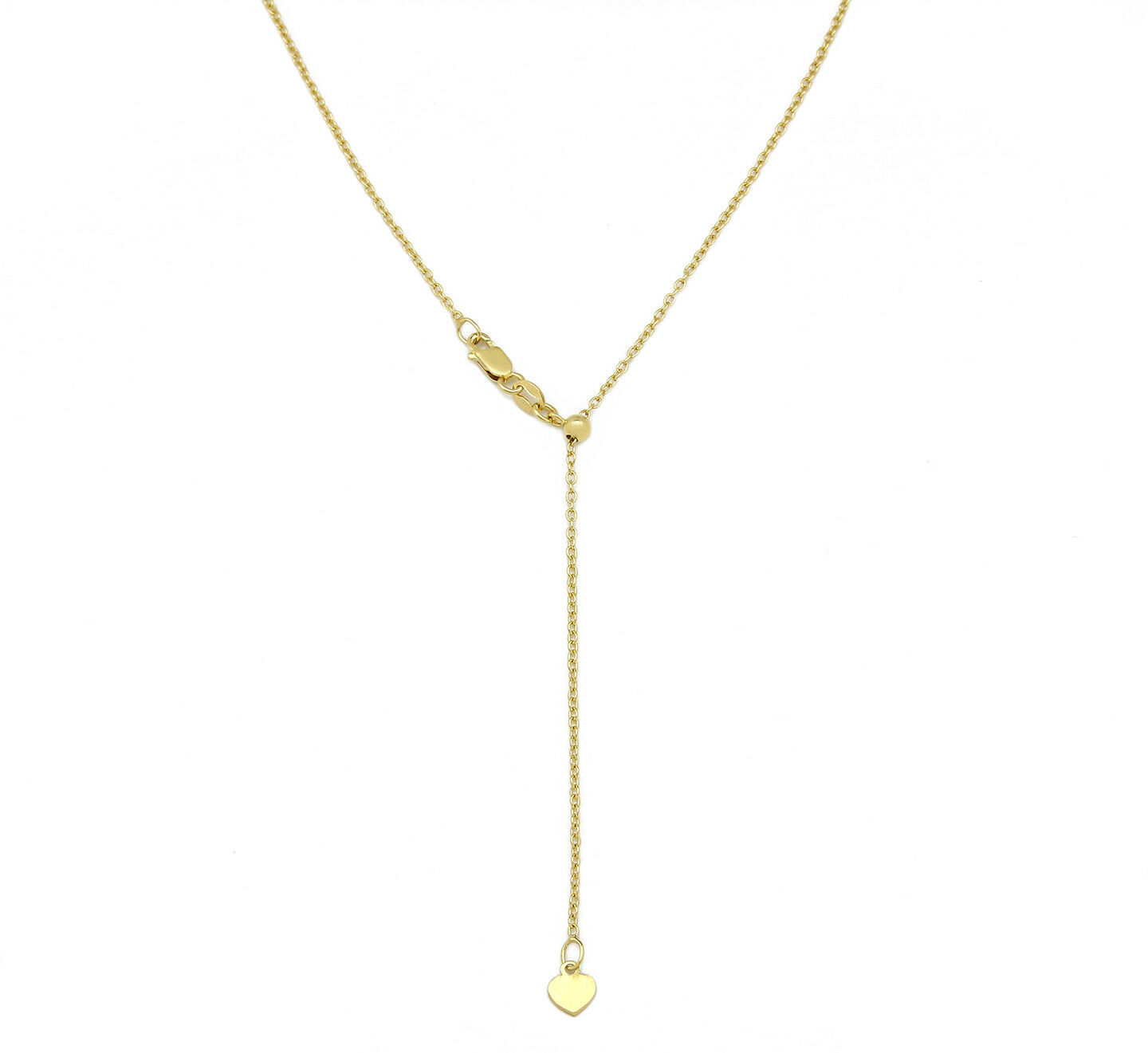 Easyjust Adjustable 12 - 22 in Long 14k SOLID gold 1.45 mm Rolo Chain