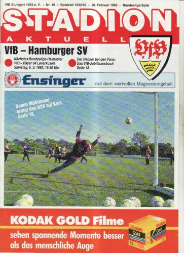 BL 92//93 VfB Stuttgart Hamburger SV