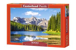 "Brand New Castorland Puzzle 3000 MISURINA LAKE, ITALY 36"" x 27"" C-300198"