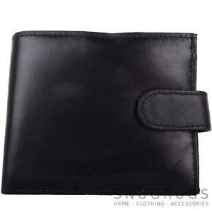 Mens-Gents-Super-Soft-Leather-Bi-Fold-Coin-Money-Wallet-Multiple-Features