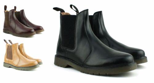 Chelsea Hommes Air Chaussures Neuve Cuir Véritable Bottines Semelle Noir XZqzX