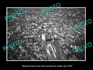 OLD-LARGE-HISTORIC-PHOTO-OF-MOUNT-VERNON-NEW-YORK-AERIAL-VIEW-OF-CITY-c1945-2