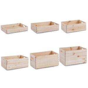 Allzweckkiste-kiefer-Holzkiste-Holzbox-Kiste-Aufbewahrung-Ordnung-Spielzeugkiste